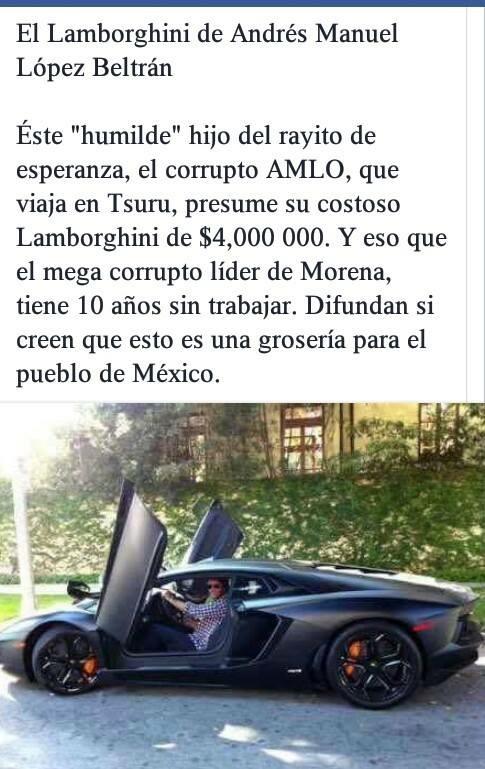 Lamborghini Andrés Manuel López Beltrán
